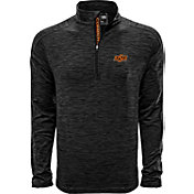 Levelwear Men's Oklahoma State Cowboys Grey Armour Quarter-Zip Shirt