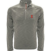 Levelwear Men's Illinois Fighting Illini Grey Mobility Long Sleeve Quarter-Zip Shirt
