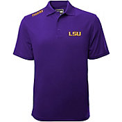 Levelwear Men's LSU Tigers Purple Helium Polo