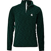 Levelwear Men's Michigan State Spartans Green Mobility Quarter-Zip