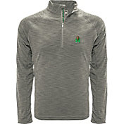 Levelwear Men's Marshall Thundering Herd Grey Mobility Long Sleeve Quarter-Zip Shirt