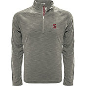 Levelwear Men's South Carolina Gamecocks Grey Mobility Long Sleeve Quarter-Zip Shirt