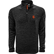 Levelwear Men's Syracuse Orange Grey Armour Quarter-Zip Shirt