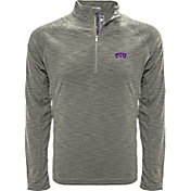 Levelwear Men's TCU Horned Frogs Grey Mobility Long Sleeve Quarter-Zip Shirt