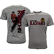 Levelwear Men's Chicago Blackhawks Duncan Keith #2 Grey Spectrum T-Shirt