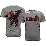 Levelwear Men's Chicago Blackhawks Jonathan Toews #19 Grey Spectrum T-Shirt
