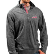 Levelwear Men's Washington Capitals Charcoal Hudson Quarter-Zip
