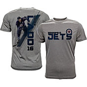 Levelwear Men's Winnipeg Jets Andrew Ladd #16 Grey Spectrum T-Shirt
