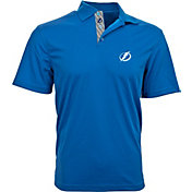 Levelwear Men's Tampa Bay Lightning Royal Skate Lace Omaha Polo