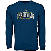 Levelwear Men's Nashville Predators Smashville Navy Long Sleeve T-Shirt