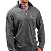 Levelwear Men's New York Rangers Charcoal Hudson Quarter-Zip