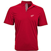 Levelwear Men's Detroit Red Wings Red Skate Lace Omaha Polo