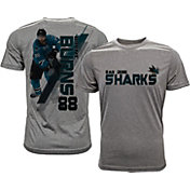 Levelwear Men's San Jose Sharks Brent Burns #88 Grey Spectrum T-Shirt