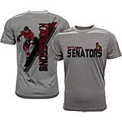 Levelwear Men's Ottawa Senators Erik Karlsson #65 Grey Spectrum T-Shirt