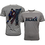 Levelwear Men's Colorado Avalanche Nathan MacKinnon #29 Grey Spectrum T-Shirt