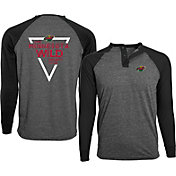 Levelwear Men's Minnesota Wild Charcoal Yield Henley Shirt