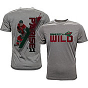 Levelwear Men's Minnesota Wild Zach Parise #11 Grey Spectrum T-Shirt