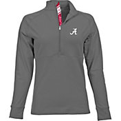Levelwear Women's Alabama Crimson Tide Grey Harmony Quarter-Zip
