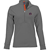 Levelwear Women's Auburn Tigers Grey Harmony Quarter-Zip