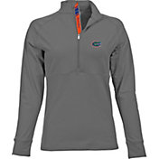 Levelwear Women's Florida Gators Grey Harmony Quarter-Zip