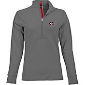 Levelwear Women's Georgia Bulldogs Grey Harmony Quarter-Zip