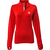 Levelwear Women's Houston Cougars Red Pacer Quarter-Zip