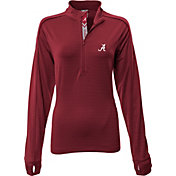 Levelwear Women's Alabama Crimson Tide Crimson Pacer Quarter-Zip