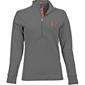 Levelwear Women's Illinois Fighting Illini Grey Harmony Quarter-Zip