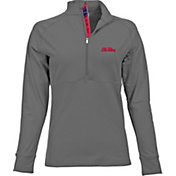 Levelwear Women's Ole Miss Rebels Grey Harmony Quarter-Zip