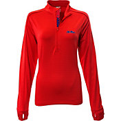 Levelwear Women's Ole Miss Rebels Red Pacer Quarter-Zip