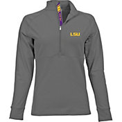 Levelwear Women's LSU Tigers Grey Harmony Quarter-Zip