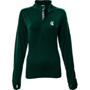 Levelwear Women's Michigan State Spartans Green Pacer Quarter-Zip
