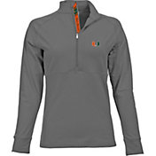 Levelwear Women's Miami Hurricanes Grey Harmony Quarter-Zip