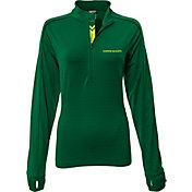 Levelwear Women's Oregon Ducks Green Pacer Quarter-Zip