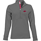 Levelwear Women's Arkansas Razorbacks Grey Harmony Quarter-Zip