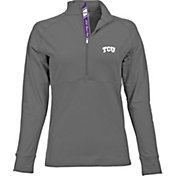 Levelwear Women's TCU Horned Frogs Grey Harmony Quarter-Zip