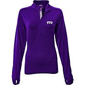 Levelwear Women's TCU Horned Frogs Purple Pacer Quarter-Zip