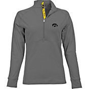 Levelwear Women's Iowa Hawkeyes Grey Harmony Quarter-Zip