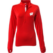 Levelwear Women's Wisconsin Badgers Red Pacer Quarter-Zip
