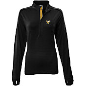 Levelwear Women's Pittsburgh Penguins Pacer Black Quarter-Zip Shirt