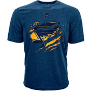 Levelwear Youth St. Louis Blues Ripped Logo Royal T-Shirt