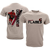 Levelwear Youth Calgary Flames Mark Giordano #8 Charcoal Spectrum T-Shirt