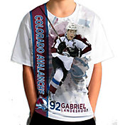 Levelwear Youth Colorado Avalanche Gabriel Landeskog #92 Breakaway White T-Shirt