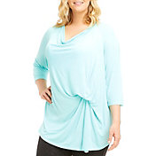 Marika Curves Women's Plus Size Hannah Three Quarter Length Sleeve Shirt