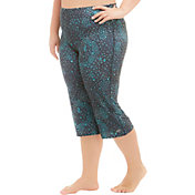 Marika Curves Women's Plus Size High-Rise Printed Capris