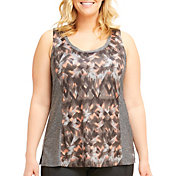 Marika Curves Women's Plus Size Riley Paneled Tank Top