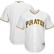 Majestic Boys' Replica Pittsburgh Pirates Cool Base Home White Jersey