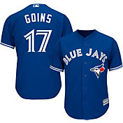 Majestic Men's Replica Toronto Blue Jays Ryan Goins #17 Cool Base Alternate Royal Jersey