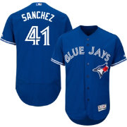 Majestic Men's Authentic Toronto Blue Jays Aaron Sanchez #41 Alternate Royal Flex Base On-Field Jersey