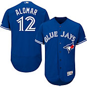 Majestic Men's Authentic Toronto Blue Jays Roberto Alomar #12 Alternate Royal Flex Base On-Field Jersey